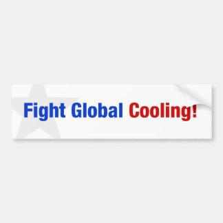 Enfriamiento global de la lucha pegatina para auto