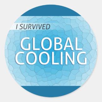 Enfriamiento global pegatina redonda