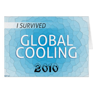 Enfriamiento global tarjeta de felicitación
