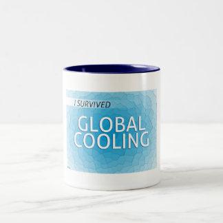 Enfriamiento global taza de café de dos colores