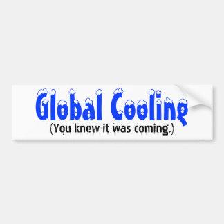 Enfriamiento global, (usted sabía que venía.) pegatina para auto