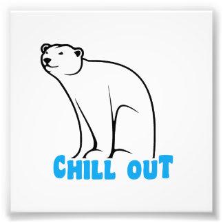 Enfríe hacia fuera el oso polar impresion fotografica