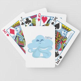 Enfríese hacia fuera baraja de cartas