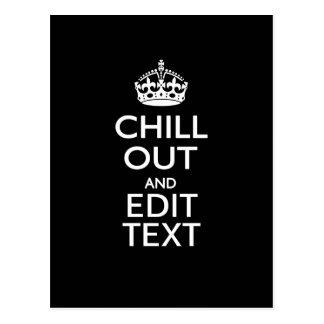 Enfríese hacia fuera para su texto con guardan postal