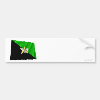 Enga Province Waving Flag Bumper Stickers