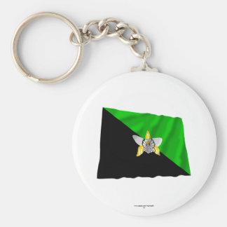 Enga Province Waving Flag Keychain