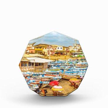 Beach Themed Engabao Beach at Guayas District Ecuador Acrylic Award