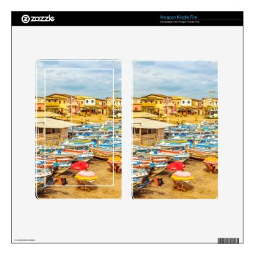 Beach Themed Engabao Beach at Guayas District Ecuador Decals For Kindle Fire