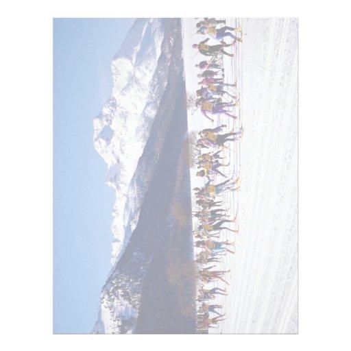 Engadin ski marathon, Silvaplana, Switzerland Wint Letterhead