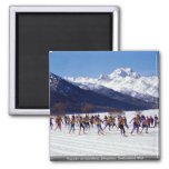 Engadin ski marathon, Silvaplana, Switzerland Wint Fridge Magnet