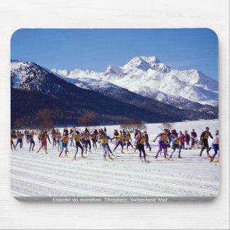 Engadin ski marathon, Silvaplana, Switzerland Wint Mouse Pad