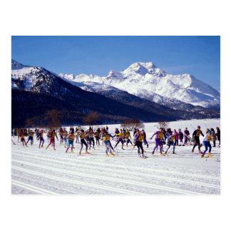 Engadin ski marathon, Silvaplana, Switzerland Wint Postcard