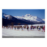 Engadin ski marathon, Silvaplana, Switzerland Wint Poster