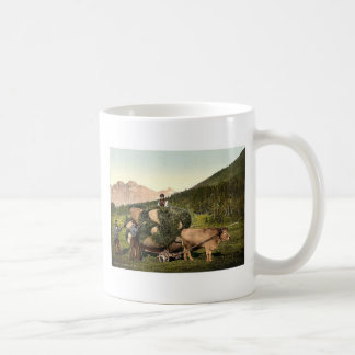 Engadine, carrying hay in the Engadine, Grisons, S Mugs