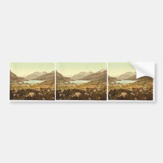 Engadine, Maloja, Lake of Sils, Grisons, Switzerla Bumper Sticker