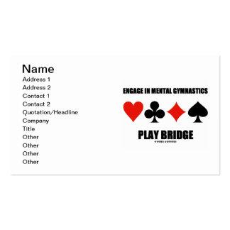 Engage In Mental Gymnastics Play Bridge Card Suits
