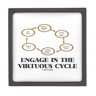 Engage In The Virtuous Cycle (Macroeconomics) Premium Jewelry Boxes