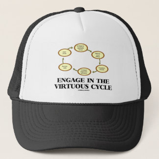 Engage In The Virtuous Cycle (Macroeconomics) Trucker Hat