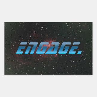 Engage Rectangular Sticker