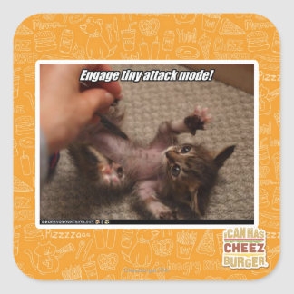 Engage tiny attack mode! sticker