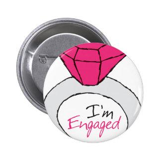 Engaged 2 Inch Round Button
