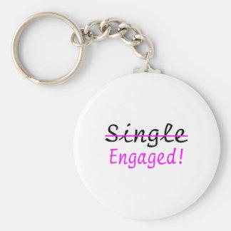 Engaged Basic Round Button Keychain