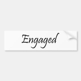 Engaged Bumper Sticker