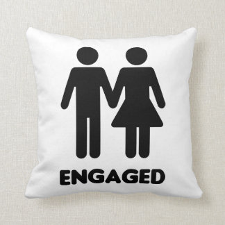 Engaged Couple Throw Pillow