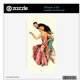 Engaged Couple Skin For iPhone 4