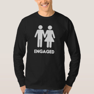Engaged Couple (White Silhouette) T-Shirt