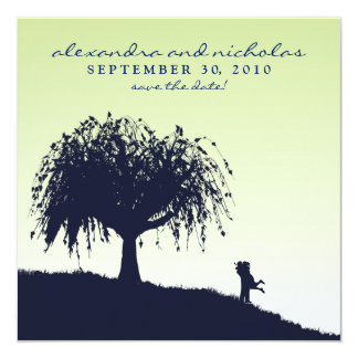 Engaged Embrace Save the Date Announcement: sage Card