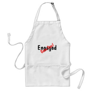 Engaged Game Over Adult Apron