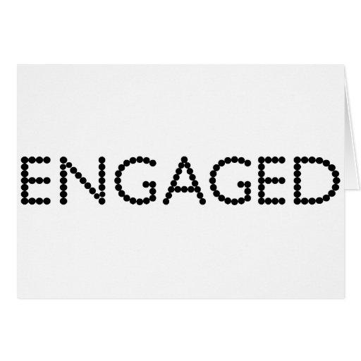 Engaged Greeting Card