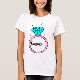 Engaged! Large Cartoon Diamond Ring T-Shirt