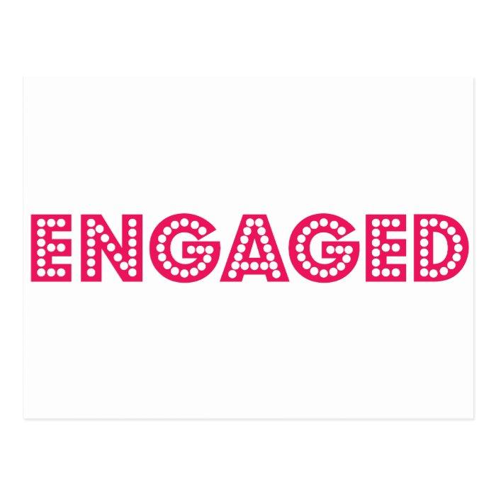 Engaged Postcard