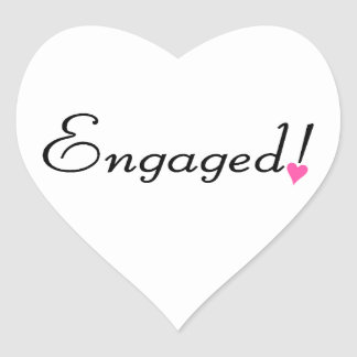Engaged Heart Sticker