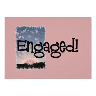 Engaged Sunset Invitations