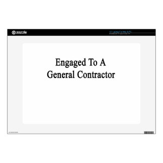 Engaged To A General Contractor Laptop Decal