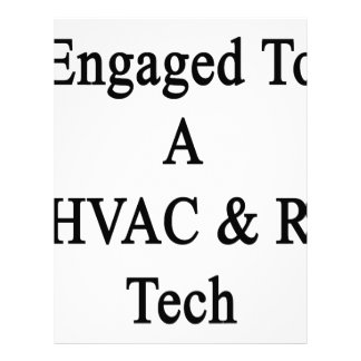 Engaged To A HVAC R Tech Letterhead