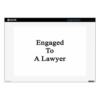 Engaged To A Lawyer Laptop Decals