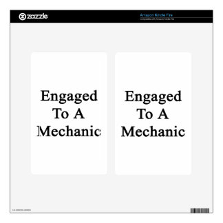 Engaged To A Mechanic Decal For Kindle Fire