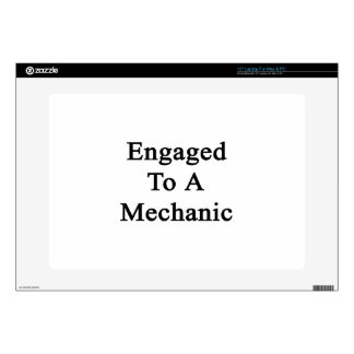 Engaged To A Mechanic Decals For Laptops