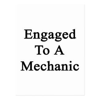 Engaged To A Mechanic Postcard