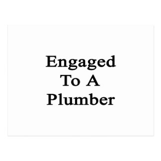 Engaged To A Plumber Postcard
