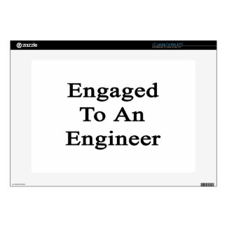 Engaged To An Engineer Decal For Laptop