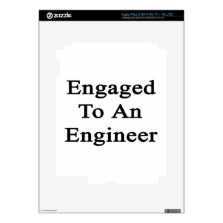Engaged To An Engineer Skins For iPad 3