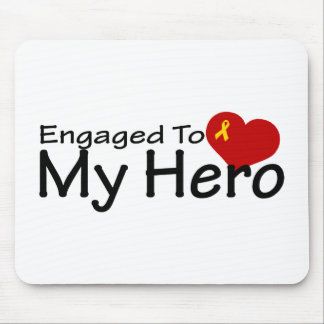 Engaged To My Hero Mouse Pad