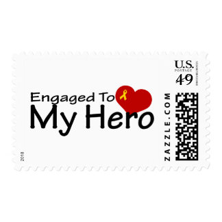 Engaged To My Hero Postage Stamp
