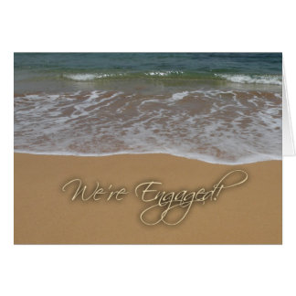 Engagement announcement - by the beach greeting cards