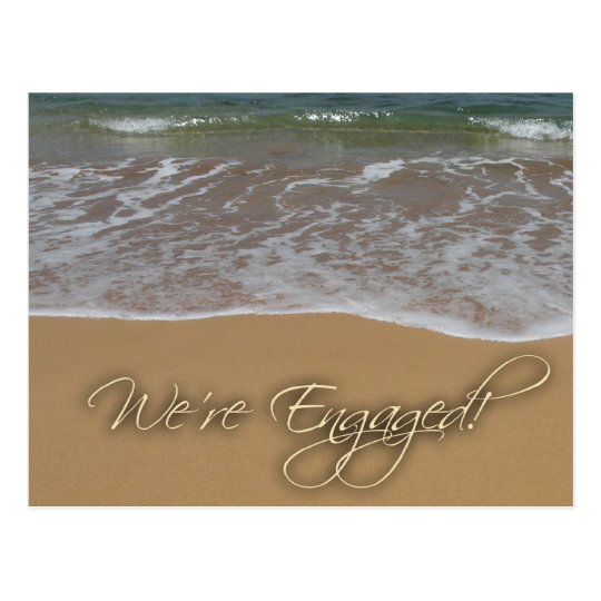 Engagement announcement - by the beach postcard
